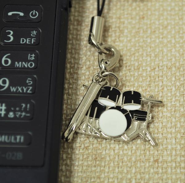 ドラム2タム レッド 携帯ストラップ♪♪【打楽器・携帯ストラップ-音楽雑貨】