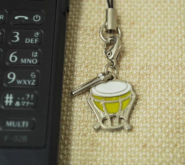 ティンパニー 携帯ストラップ♪♪【打楽器・携帯ストラップ-音楽雑貨】
