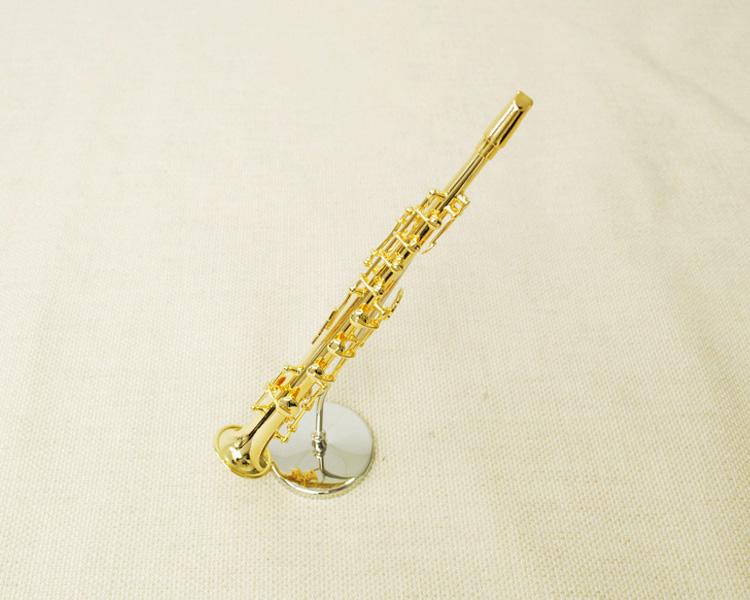 ミニチュア楽器!ソプラノサックス 1/6 スケール(ゴールド)♪この商品はお取り寄せ商品です♪♪【楽器-音楽雑貨】