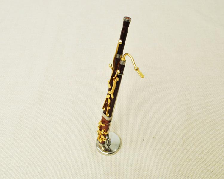 ミニチュア楽器!バスーン 1/6 スケール(ゴールド)♪お取り寄せ商品です♪♪【楽器-音楽雑貨】