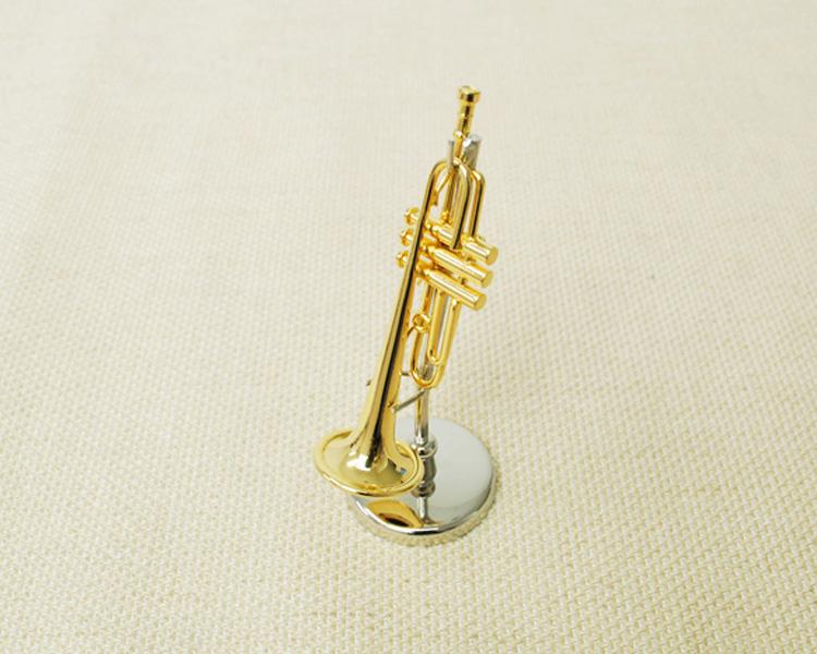 ミニチュア楽器!トランペット 1/12 スケール(ゴールド)♪お取り寄せ商品です♪♪【楽器-音楽雑貨】