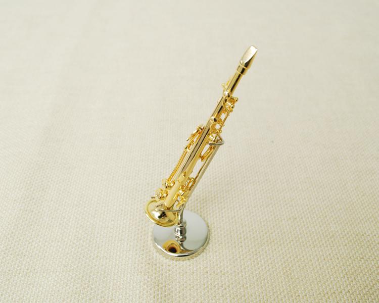 ミニチュア楽器!ソプラノサックス 1/12 スケール(ゴールド)♪この商品はお取り寄せ商品です♪♪【楽器-音楽雑貨】