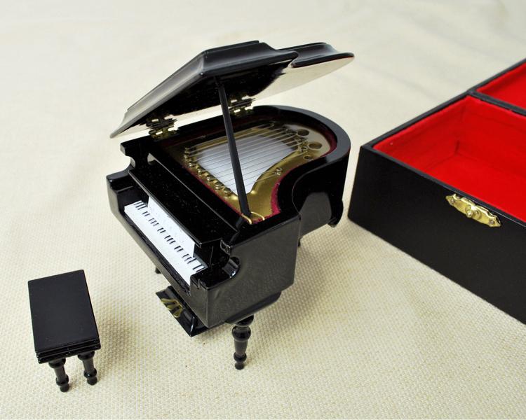 ミニチュア楽器!グランドピアノ 18cm  (黒)♪お取り寄せ商品です♪♪【楽器-音楽雑貨】