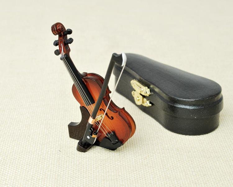 ミニチュア楽器!バイオリン 9cmサイズ♪この商品はお取り寄せ商品です♪【楽器-音楽雑貨】