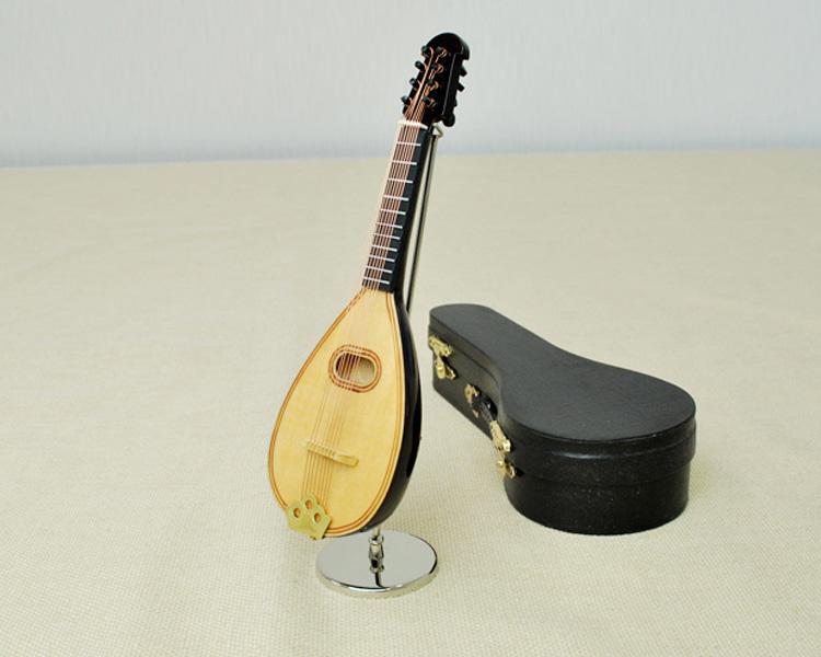 ミニチュア楽器!マンドリン 18cmサイズ♪この商品はお取り寄せ商品です♪♪【楽器-音楽雑貨】