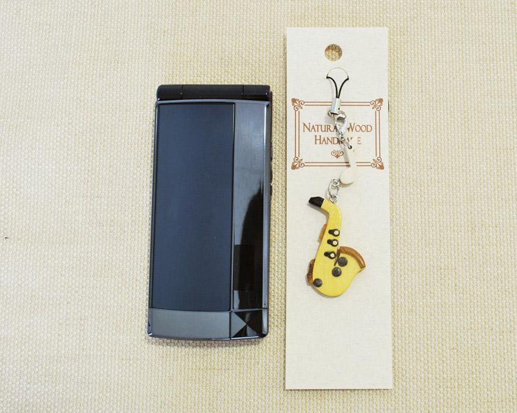 楽器携帯ストラップ アルトサックス♪♪【楽器ストラップ-音楽雑貨】