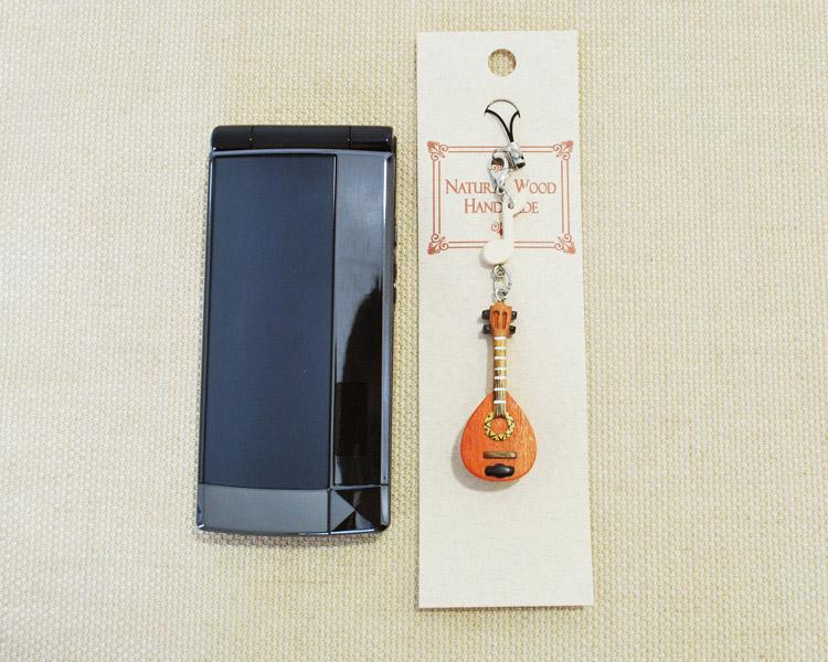 楽器携帯ストラップ マンドリン♪♪【楽器ストラップ-音楽雑貨】