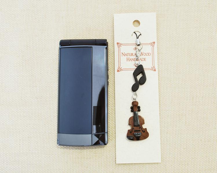 楽器携帯ストラップ バイオリン♪♪【楽器ストラップ-音楽雑貨】