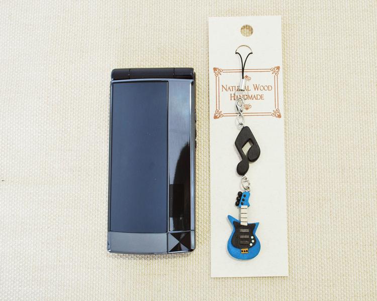 楽器携帯ストラップ エレキギター♪♪【楽器ストラップ-音楽雑貨】