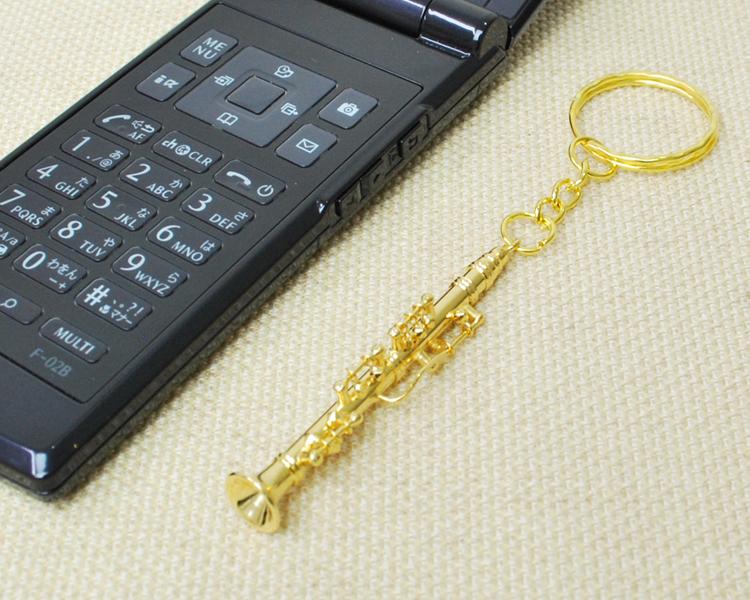 楽器キーホルダー ソプラノサックス♪この商品はお取り寄せ商品です♪♪【楽器キーホルダー-音楽雑貨】