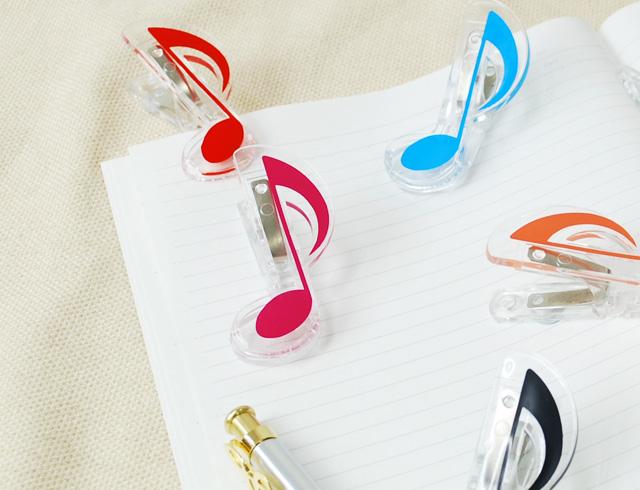 5色から選べる 八分音符 クリップ ♪お取り寄せ商品です♪♪【小物 音楽雑貨】 音楽雑貨 音楽グッズ 記念品 卒業記念 楽器 吹奏楽