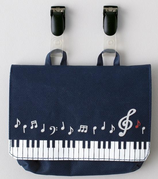 ポケットポーチ 音符鍵盤 ※お取り寄せ商品 【音楽雑貨 音符・ピアノモチーフ】ト音記号 ピアノ雑貨