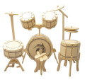 パズル感覚の木製組立てキット「3Dパズル名人(楽器)」ドラム ♪♪【音楽雑貨 音符・ピアノモチーフ】音符 ピアノ