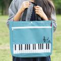 ピアノライン ポケット付きレッスンバッグ ※お取り寄せ商品 引き出物 記念品  【音楽雑貨 音符・ピアノモチーフ】ト音記号 ピアノ雑貨c