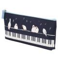 ピアノライン マチ付きペンケース ことり ※お取り寄せ商品 引き出物 記念品 音楽雑貨 音符 ピアノモチーフ ト音記号 ピアノ雑貨