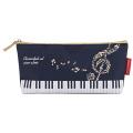 Piano line ハミング ペンケース ※お取り寄せ商品 引き出物 記念品 音楽雑貨 音符 ピアノモチーフ ト音記号 ピアノ雑貨