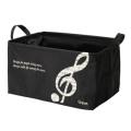 グラーヴェ ワイヤー入り収納ボックス 大 (音符)※お取り寄せ商品 引き出物 記念品 音楽雑貨 音符 ピアノモチーフ ト音記号 ピアノ雑貨