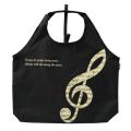 グラーヴェ ビッグエコバッグ ※お取り寄せ商品 引き出物 記念品 音楽雑貨 音符 ピアノモチーフ ト音記号 ピアノ雑貨