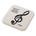 グラーヴェ 珪藻土コースター ※お取り寄せ商品 引き出物 記念品 音楽雑貨 音符 ピアノモチーフ ト音記号 ピアノ雑貨