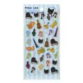 ピアノライン ぷくぷくシール ※お取り寄せ商品 引き出物 記念品 音楽雑貨 音符 ピアノモチーフ ト音記号 ピアノ雑貨