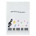 Piano line クリアファイル カラフル音符 ※お取り寄せ商品 引き出物 記念品 音楽雑貨 音符 ピアノモチーフ ト音記号 ピアノ雑貨