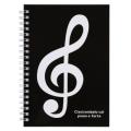 Piano line リングノート B6 ※お取り寄せ商品 引き出物 記念品 音楽雑貨 音符 ピアノモチーフ ト音記号 ピアノ雑貨