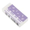 Piano line 消しゴム ※お取り寄せ商品 引き出物 記念品 音楽雑貨 音符 ピアノモチーフ ト音記号 ピアノ雑貨