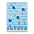 Piano line B5下敷き ※お取り寄せ商品 引き出物 記念品 音楽雑貨 音符 ピアノモチーフ ト音記号 ピアノ雑貨