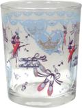 ♪バレエ柄のキュートなグラス♪pointeグラス♪バレエ柄 ブルー♪この商品はお取り寄せ商品です♪音符 ピアノ 楽器 音楽雑貨 吉澤
