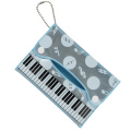 Piano line 反射ポケッティケース ブルー  ※お取り寄せ商品 【音楽雑貨 音符・ピアノモチーフ】ト音記号 ピアノ雑貨