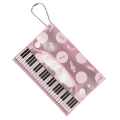 Piano line 反射ポケッティケース ピンク  ※お取り寄せ商品 【音楽雑貨 音符・ピアノモチーフ】ト音記号 ピアノ雑貨