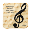 グラーヴェ ハンドタオル ※お取り寄せ商品 引き出物 記念品 音楽雑貨 音符 ピアノモチーフ ト音記号 ピアノ雑貨