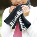 piano line マフラー ※お取り寄せ商品 【音楽雑貨 音符・ピアノモチーフ】ト音記号 ピアノ雑貨