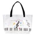 Piano line プールバッグ(カラフル音符) ※お取り寄せ商品 引き出物 記念品 音楽雑貨 音符 ピアノモチーフ ト音記号 ピアノ雑貨