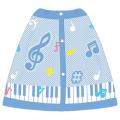 Piano line プールタオル(カラフル音符) ※お取り寄せ商品 引き出物 記念品 音楽雑貨 音符 ピアノモチーフ ト音記号 ピアノ雑貨