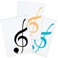 ト音記号 クリアファイル A4 3枚セット※お取り寄せ商品 【音楽雑貨 音符・ピアノモチーフ】ト音記号 ピアノ雑貨