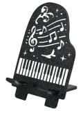スマートフォンスタンド(ピアノ) ☆※お取り寄せ商品 【音楽雑貨 音符・ピアノモチーフ】ト音記号 ピアノ雑貨