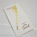 ゴールドブックマーカー ※お取り寄せ商品 引き出物 記念品 音楽雑貨 音符 ピアノモチーフ ト音記号 ピアノ雑貨