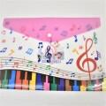 ミュージックデザイン カラーファイル ※お取り寄せ商品 引き出物 記念品 音楽雑貨 音符 ピアノモチーフ ト音記号 ピアノ雑貨