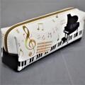 ミュージックペンポーチ ※お取り寄せ商品 引き出物 記念品 音楽雑貨 音符 ピアノモチーフ ト音記号 ピアノ雑貨