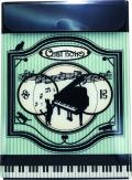 A4ファイルケース ※お取り寄せ商品 引き出物 記念品 音楽雑貨 音符 ピアノモチーフ ト音記号 ピアノ雑貨