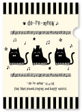 do-re-meow A4 クリアファイル ※お取り寄せ商品 引き出物 記念品 音楽雑貨 音符 ピアノモチーフ ト音記号 ピアノ雑貨