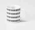 マグカップ KEYBORDER ※お取り寄せ商品 引き出物 記念品 音楽雑貨 音符 ピアノモチーフ ト音記号 ピアノ雑貨
