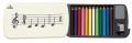 ミニ12色鉛筆 ※お取り寄せ商品 引き出物 記念品 音楽雑貨 音符 ピアノモチーフ ト音記号 ピアノ雑貨