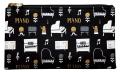 ペンポーチ la la PIANO ※お取り寄せ商品 引き出物 記念品 音楽雑貨 音符 ピアノモチーフ ト音記号 ピアノ雑貨