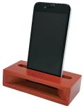 クレドソル 木製スマホスピーカー※お取り寄せ商品 引き出物 記念品 音楽雑貨 音符 ピアノモチーフ ト音記号 ピアノ雑貨