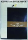 レターセット ※お取り寄せ商品 引き出物 記念品 音楽雑貨 音符 ピアノモチーフ ト音記号 ピアノ雑貨
