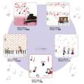 チアフル音楽会 タオルハンカチ 23×23cm【Shinzi Katoh】 ※お取り寄せ商品 【音楽雑貨 音符・ピアノモチーフ】ト音記号 ピアノ雑貨