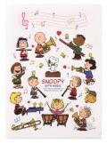 スヌーピー メモリングファイル ホワイト♪この商品はお取り寄せ商品です♪【ピアノ発表会】音楽会 ブラスバンド 吹奏楽部の記念品に