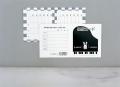 くおん出席カード(鍵盤)小 ※お取り寄せ商品 引き出物 記念品 音楽雑貨 音符 ピアノモチーフ ト音記号 ピアノ雑貨